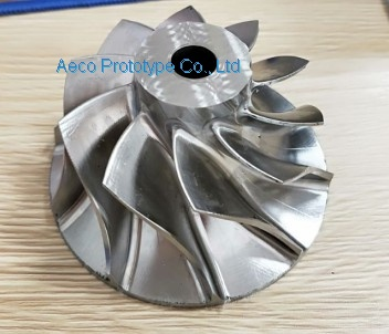 Stainless Steel Impeller Wheel Vane by 5 Axis CNC Machine