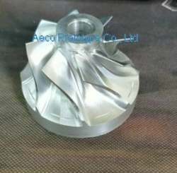 Aluminum Allloy Wheel Impellor Vane by  5 Axis CNC machines